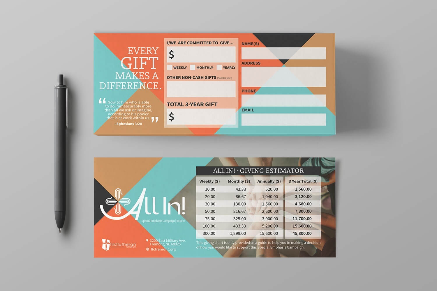 Pledge Cards & Commitment Cards   Church Campaign Design Pertaining To Free Pledge Card Template