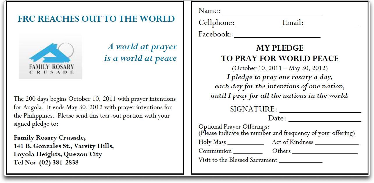 Pledge Form Sample – Calep.midnightpig.co For Free Pledge Card Template