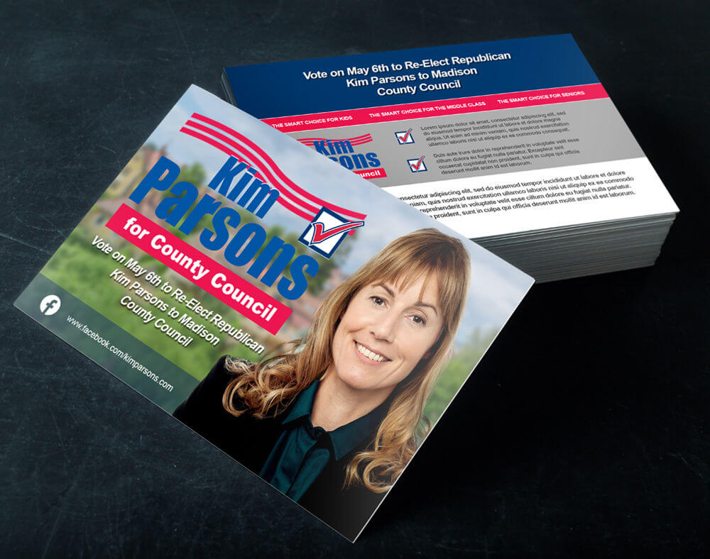 Political Campaign Printing & Direct Mail Services | Printplace Throughout Push Card Template