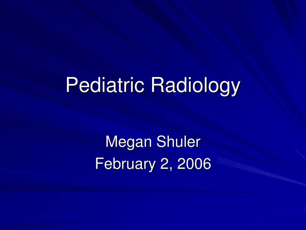 Ppt – Pediatric Radiology Powerpoint Presentation, Free Regarding Radiology Powerpoint Template