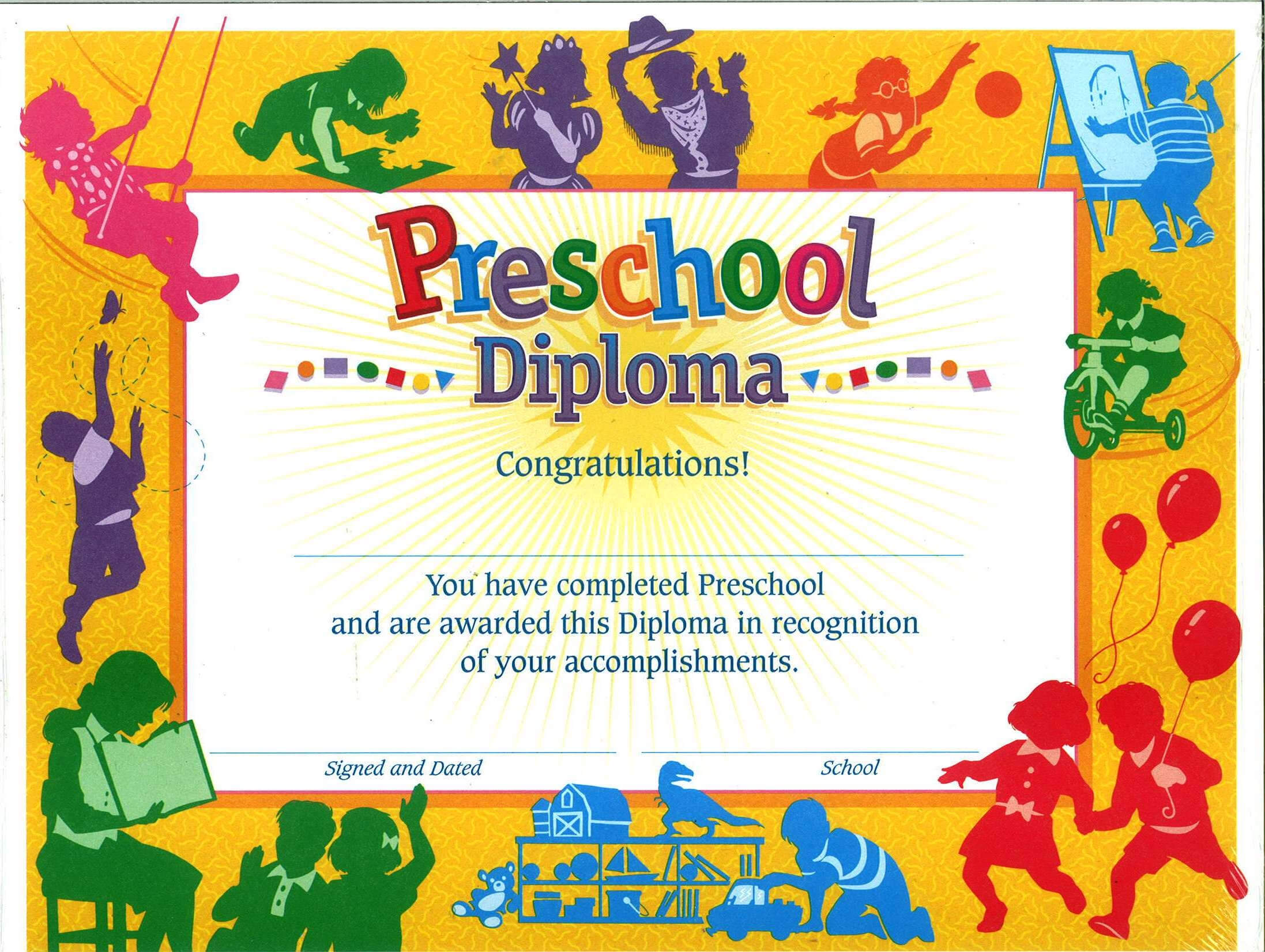 Pre School Certificate – Calep.midnightpig.co Throughout Hayes Certificate Templates
