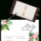 Printable Free Wedding Rsvp Template & Cards Microsoft Word Regarding Acceptance Card Template