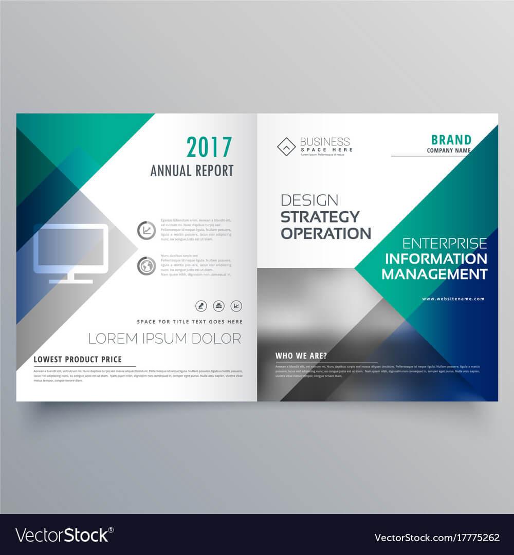 Professional Blue Bi Fold Brochure Template Design With Regard To Professional Brochure Design Templates