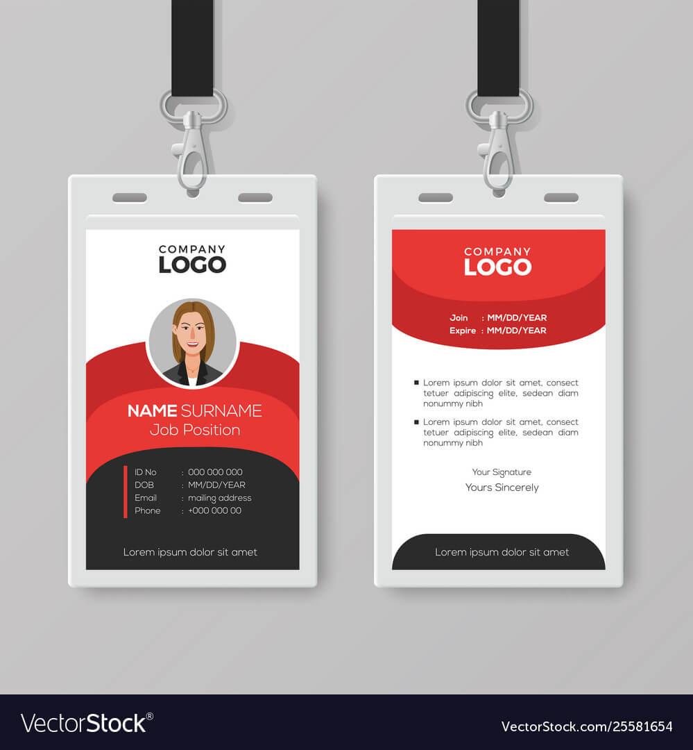Professional Employee Id Card Template Regarding Work Id Card Template