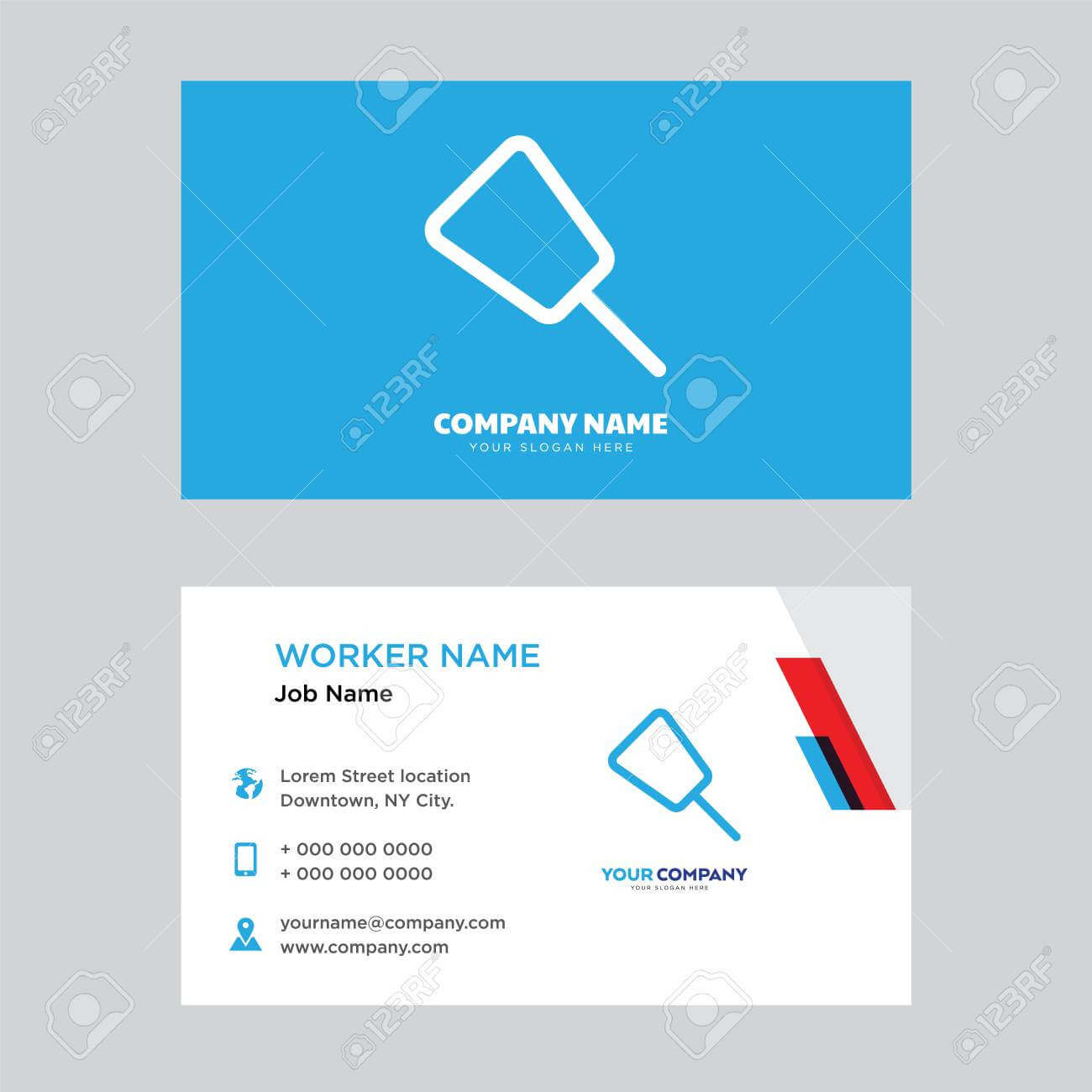 Push Pin Business Card Design Template, Visiting For Your Company,.. In Push Card Template