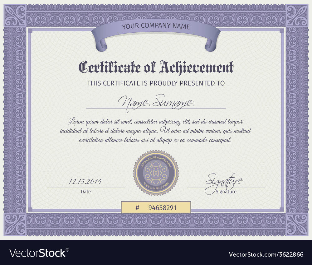Qualification Certificate Template Intended For Qualification Certificate Template