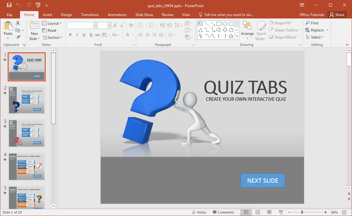 Quiz Powerpoint Templates - Calep.midnightpig.co In Trivia Powerpoint Template