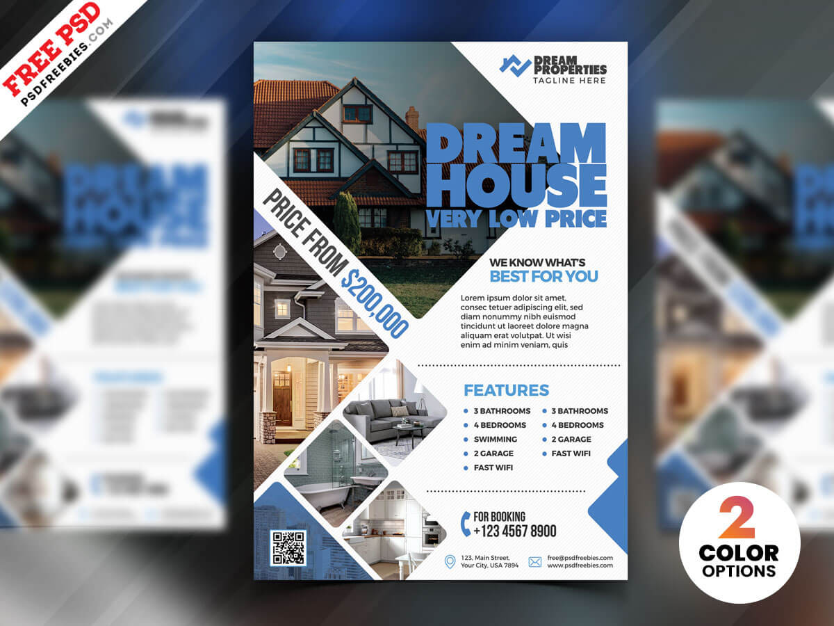 Real Estate Flyer Design Psdpsd Freebies On Dribbble With Real Estate Brochure Templates Psd Free Download