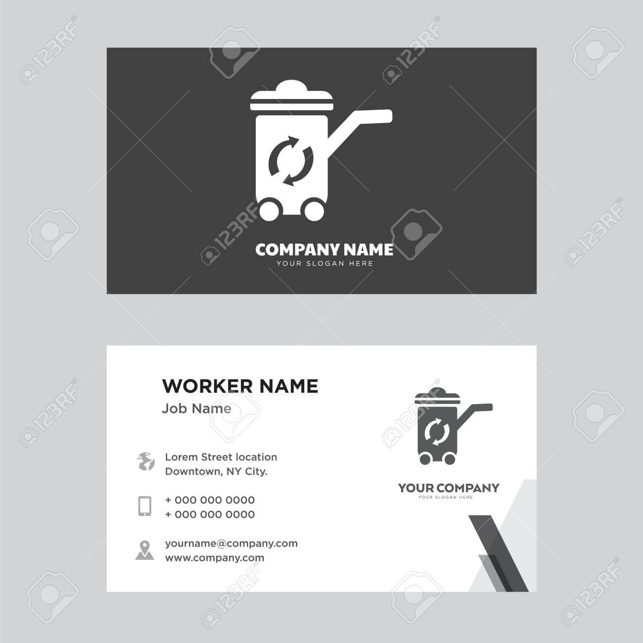 Recycle Bin Business Card Design Template, Visiting For Your.. With Bin Card Template