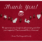 Red Christmas Thank You Card Template With Thank You Note Cards Template