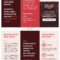 Red College Campus Tri Fold Brochure Template pertaining to Student Brochure Template