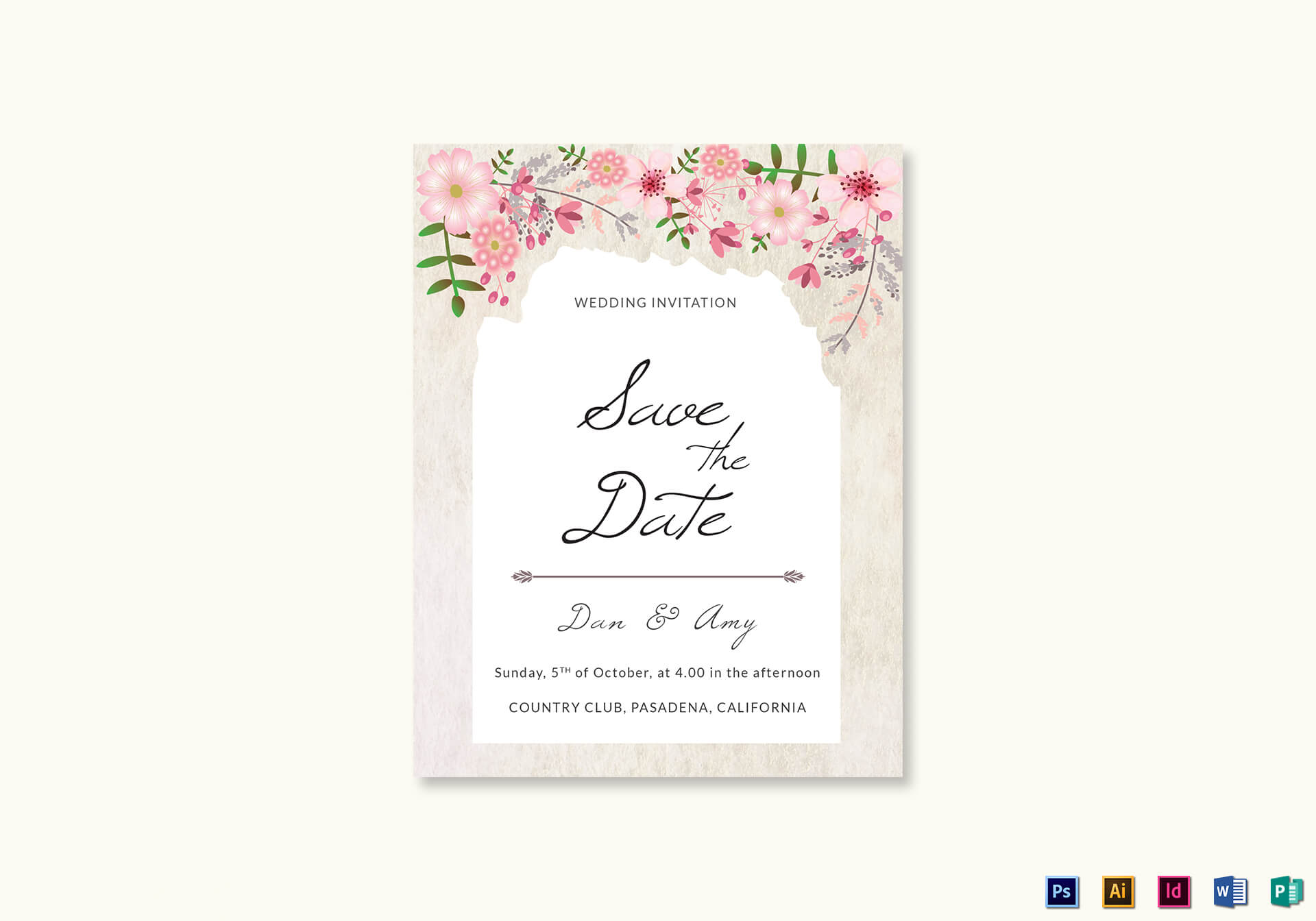 Save The Date Card Designs – Calep.midnightpig.co Inside Save The Date Powerpoint Template