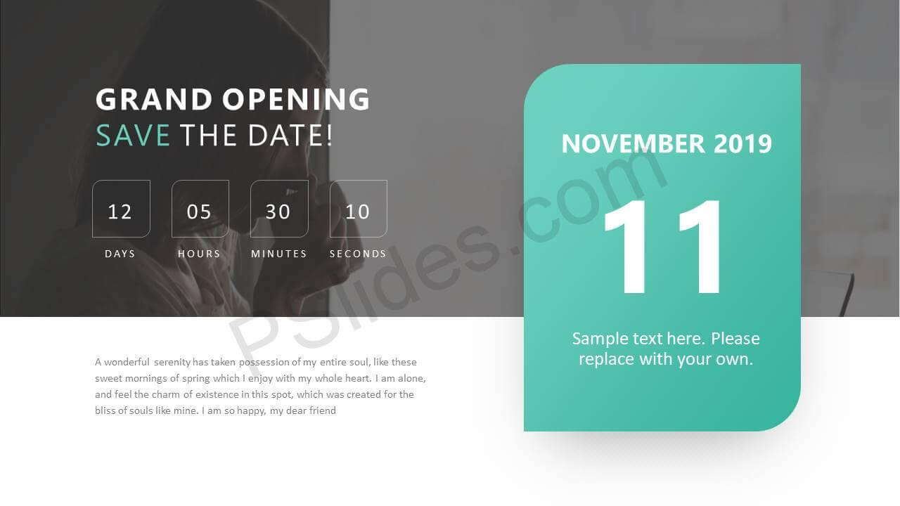 Save The Date Ppt Slide - Pslides Inside Save The Date Powerpoint Template