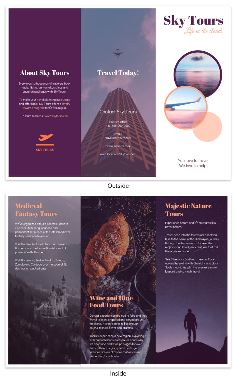 Simple Vacation Travel Tri Fold Brochure Template Regarding Island Brochure Template