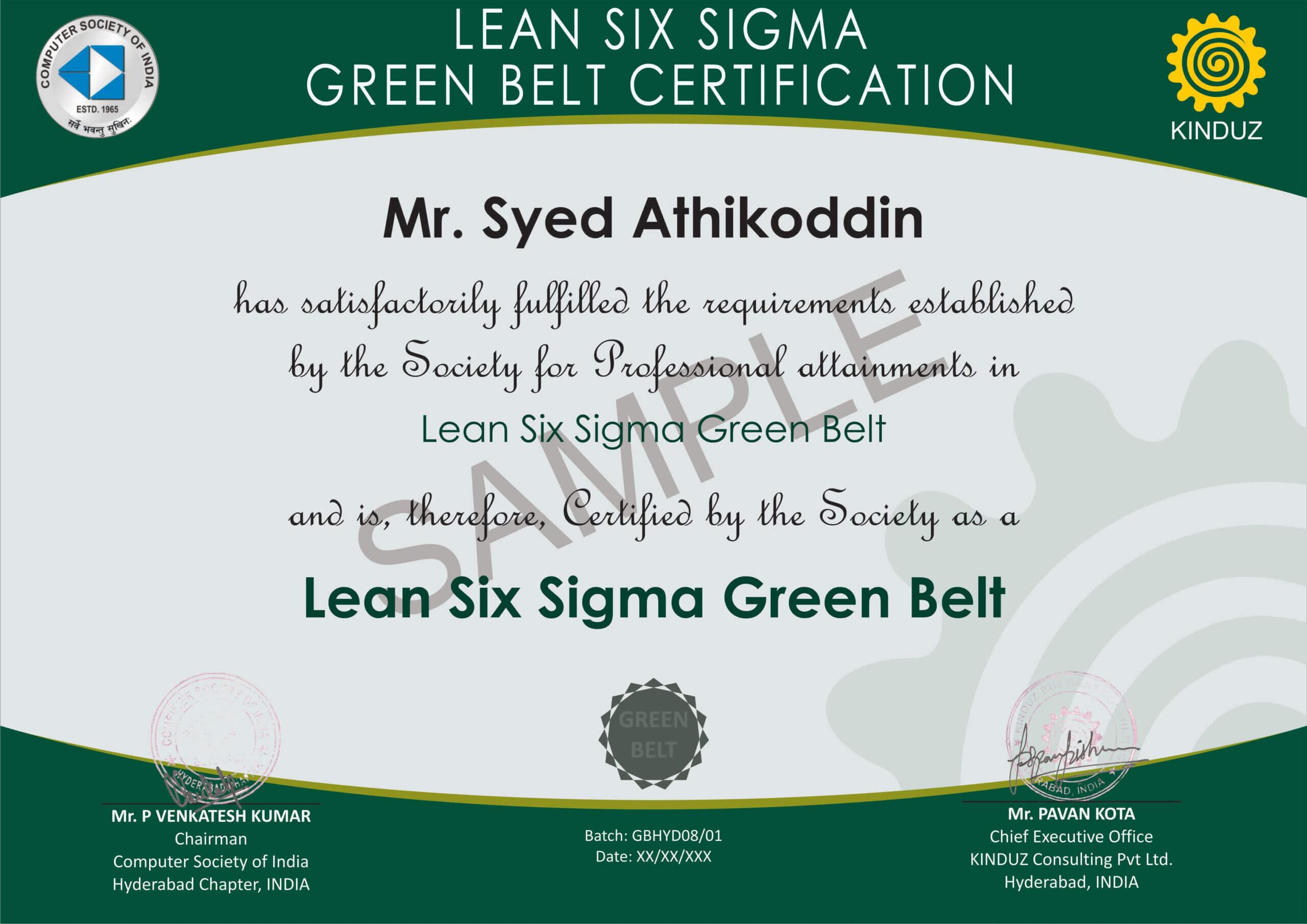 Six Sigma Black Belt Certificate Template Free Design Green Throughout Green Belt Certificate Template