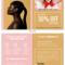 Skincare Product Bi Fold Brochure Template Intended For Brochure 4 Fold Template