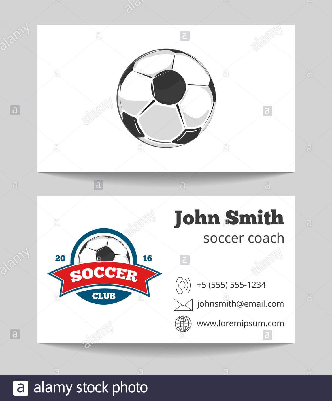 Soccer Coach Business Card Template With Logo. Soccer Sport Inside Soccer Referee Game Card Template