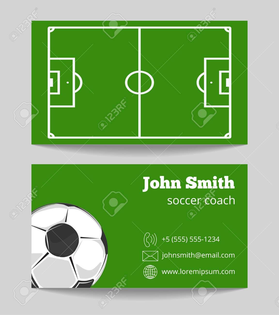 Soccer Green Field Business Card Template. Football Field On.. Regarding Soccer Referee Game Card Template