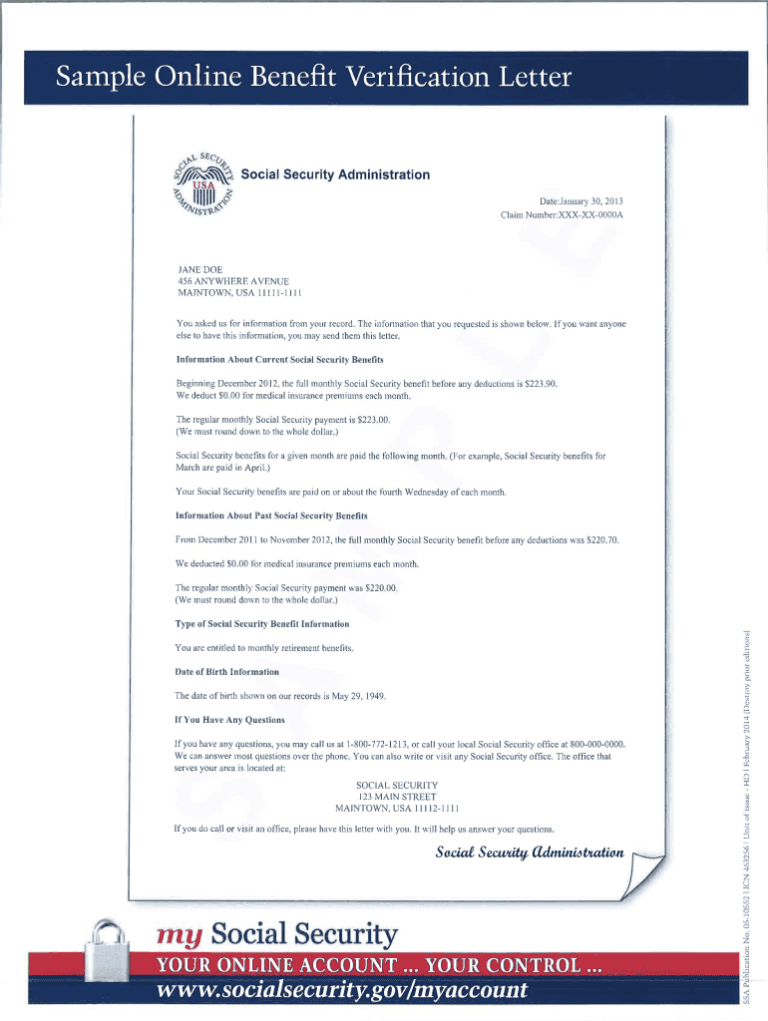 Social Security Award Letter Sample Pdf - Fill Online