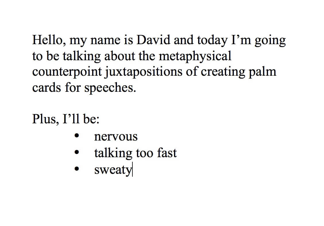 Speech Palm Card Template For Microsoft Word Intended For Microsoft Word Note Card Template