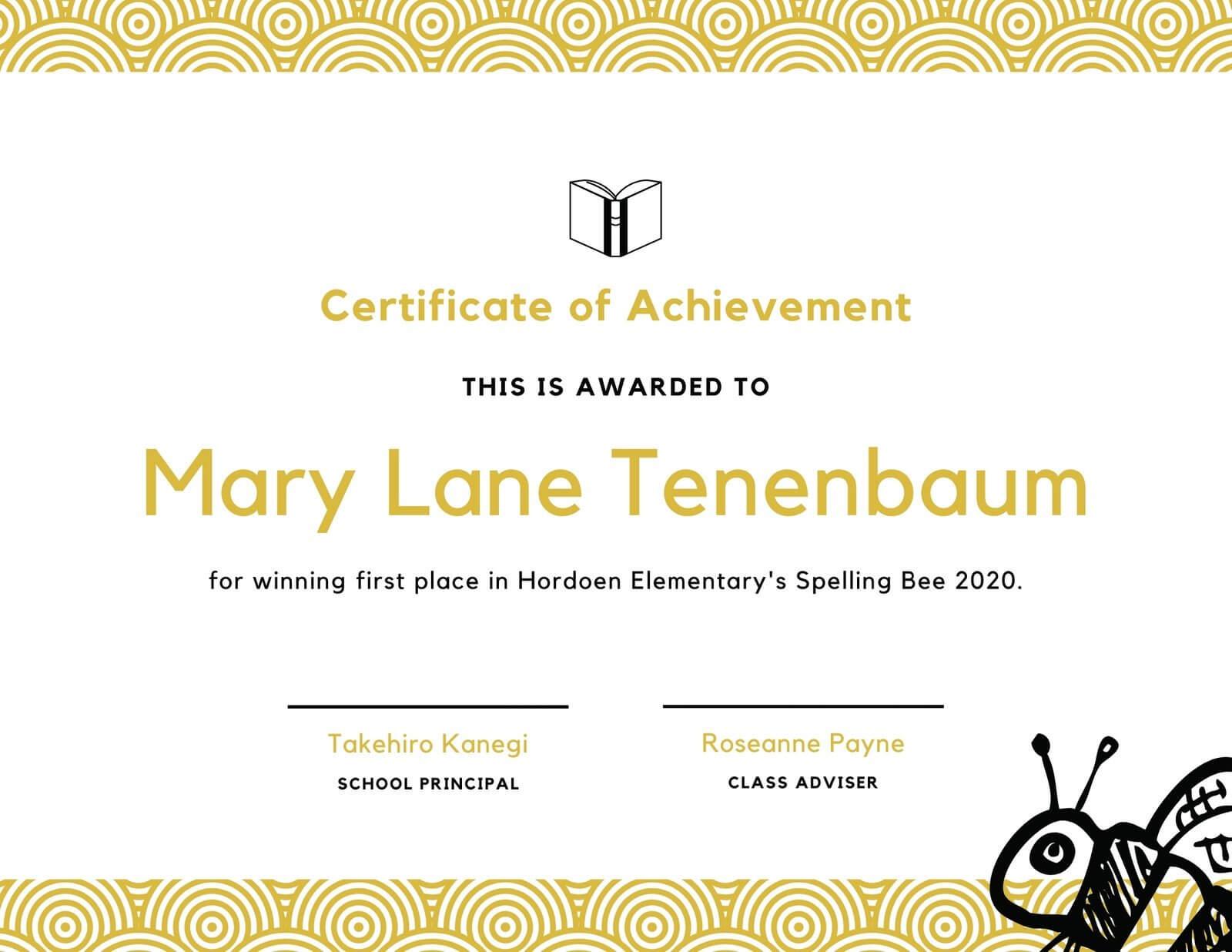 Spelling Bee Fun Certificate - Templatescanva With Regard To Spelling Bee Award Certificate Template