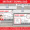 Spy Or Secret Agent Badge Template – Red inside Spy Id Card Template