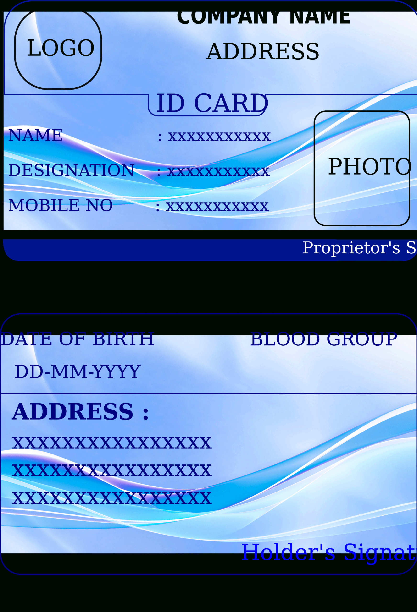 State Id Card Template – Calep.midnightpig.co Intended For Personal Identification Card Template