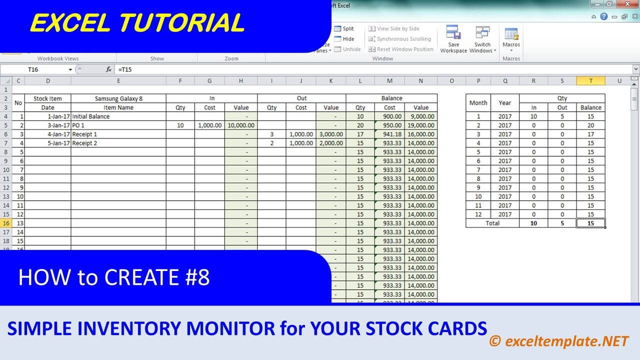 Stock Cards – Calep.midnightpig.co With Bin Card Template