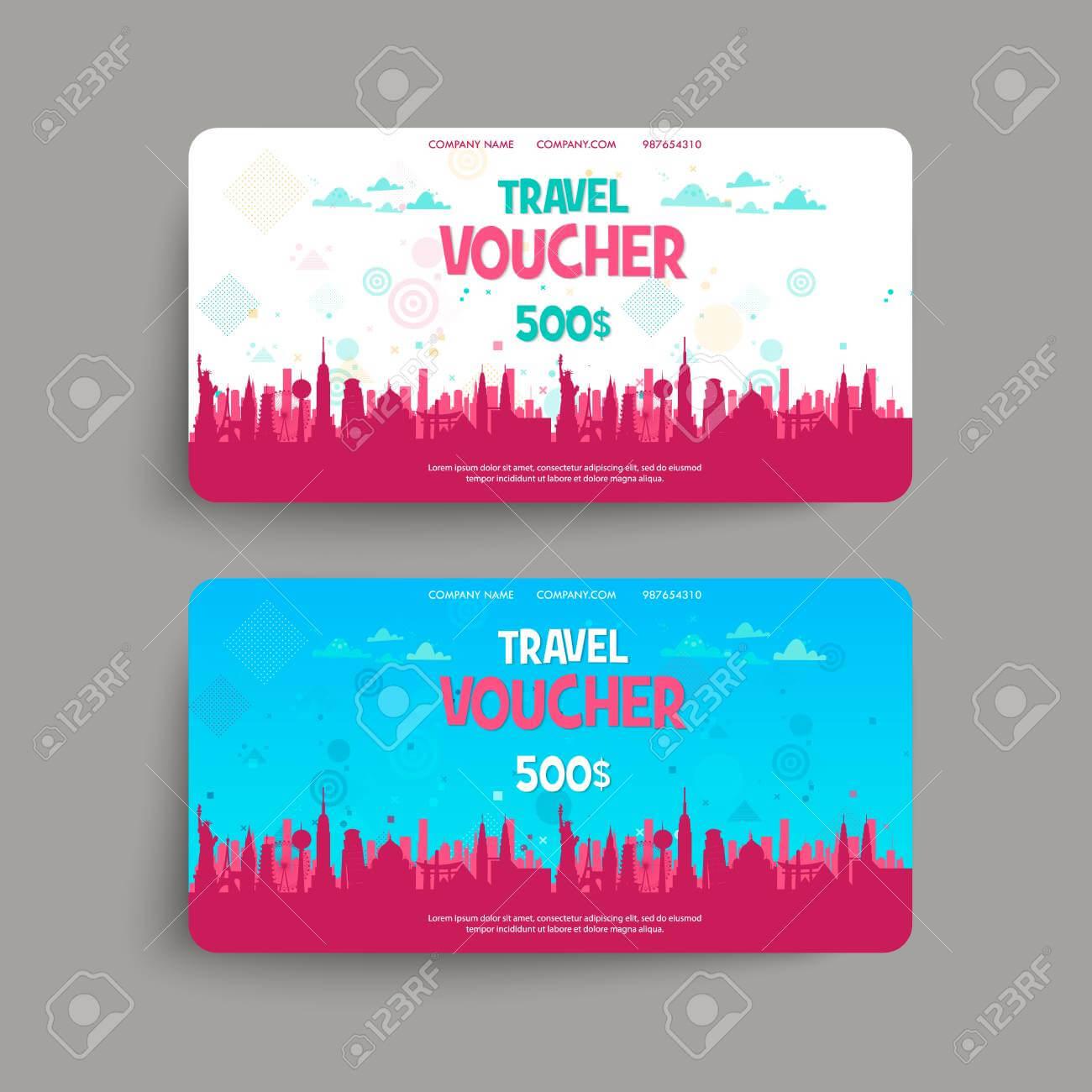 Stock Illustration Inside Free Travel Gift Certificate Template