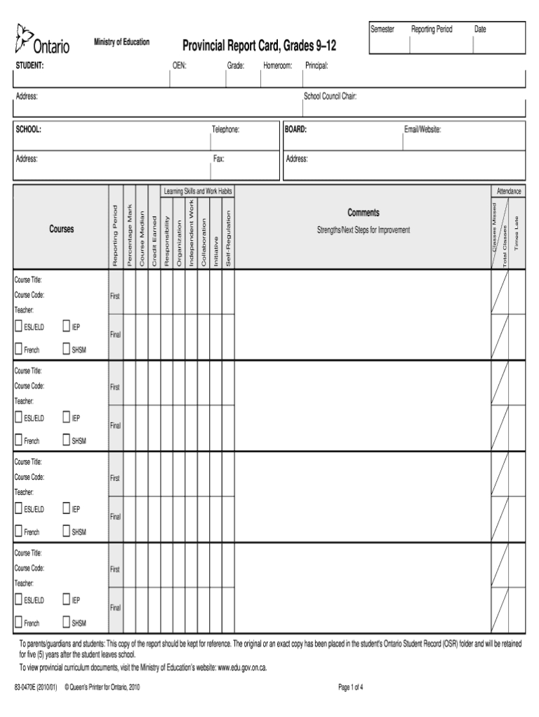 tdsb report card pdf  fill online printable fillable