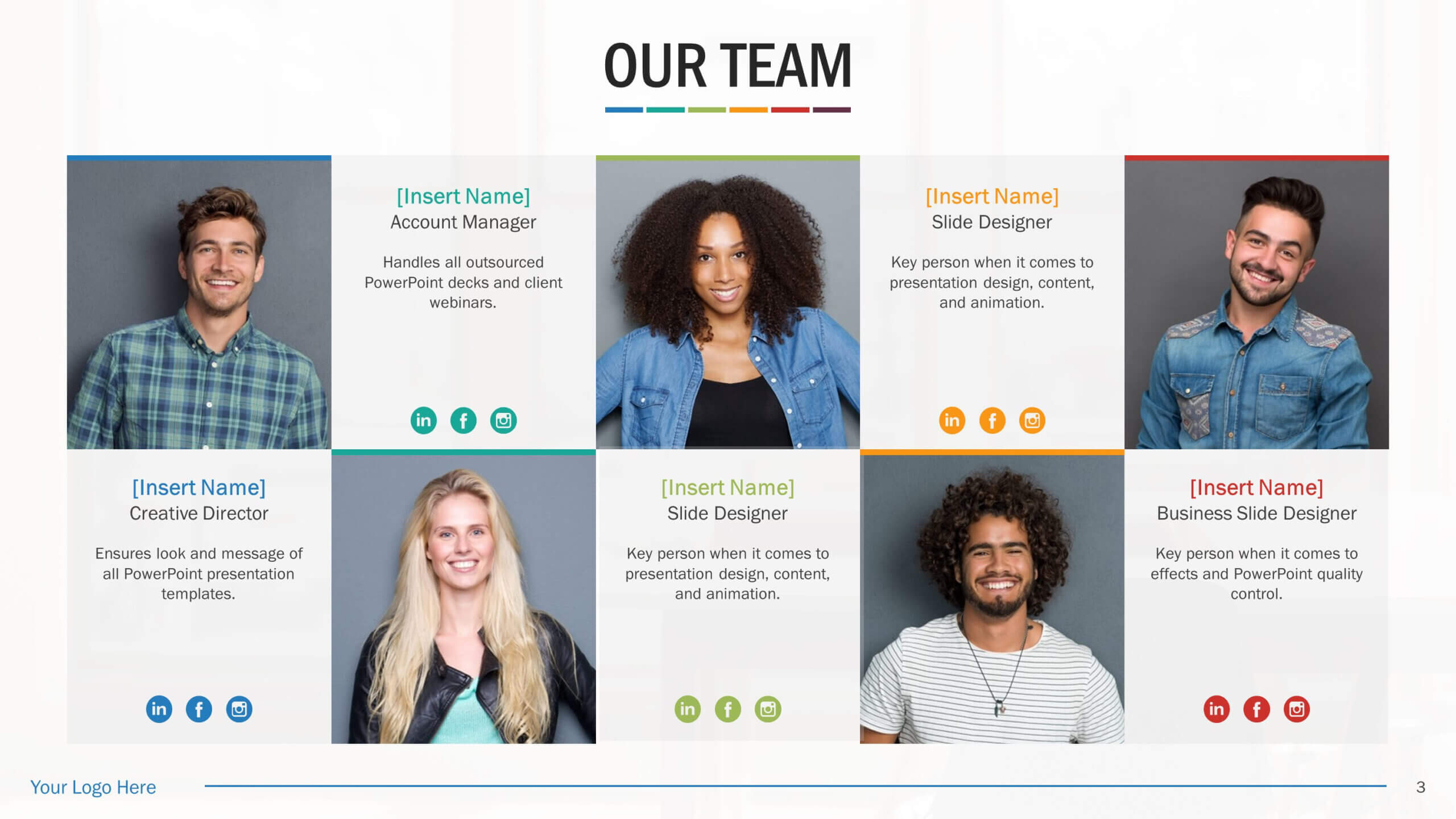 Team Biography Slides For Powerpoint Presentation Templates Inside Biography Powerpoint Template