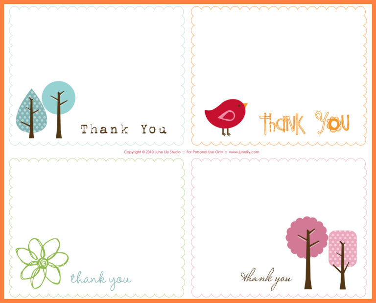 thank you card template open office  cards design