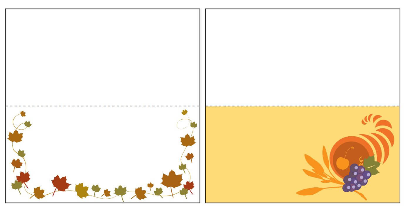 Thanksgiving Place Card Templates Gallery - Free Templates Ideas Intended For Thanksgiving Place Cards Template