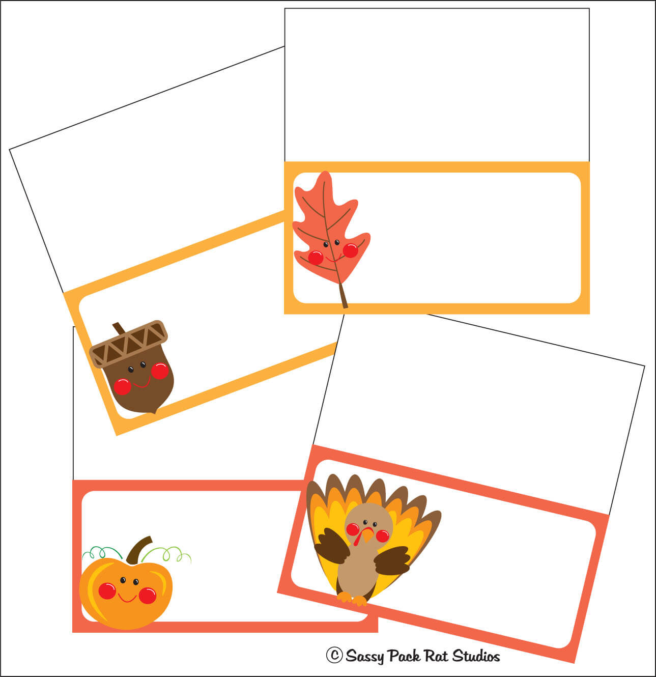 The Sassy Pack Rat: Thanksgiving Place Card Printable Freebie Intended For Thanksgiving Place Card Templates