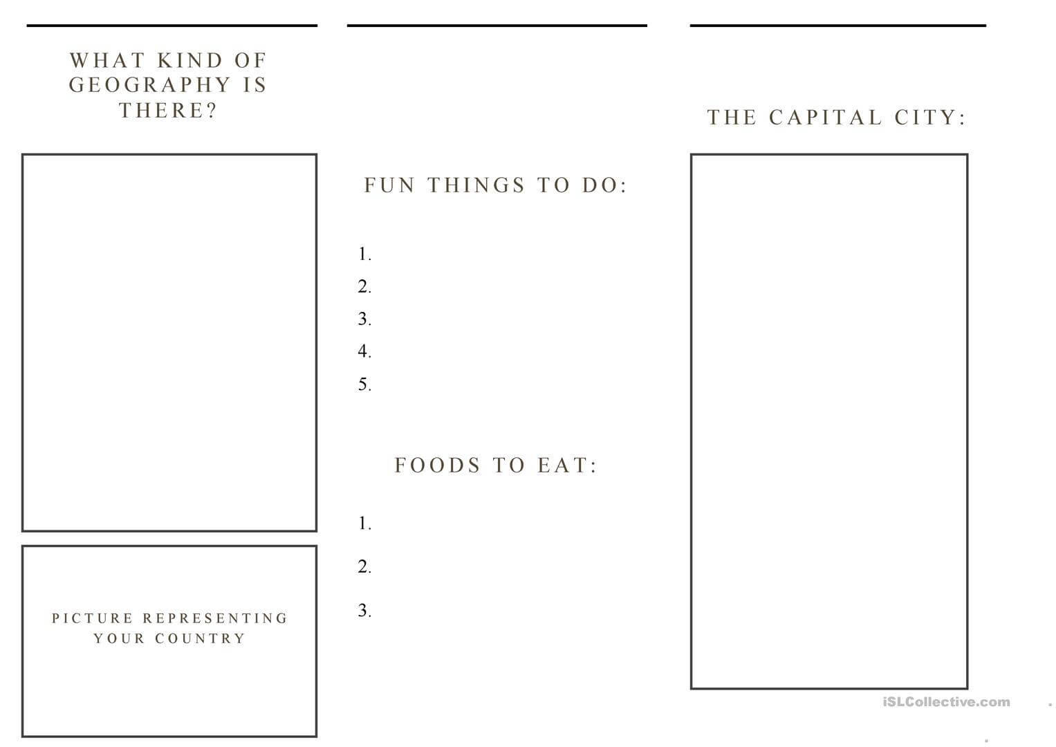 There Is There Are Worksheet Isl | Printable Worksheets And For Travel Brochure Template Ks2
