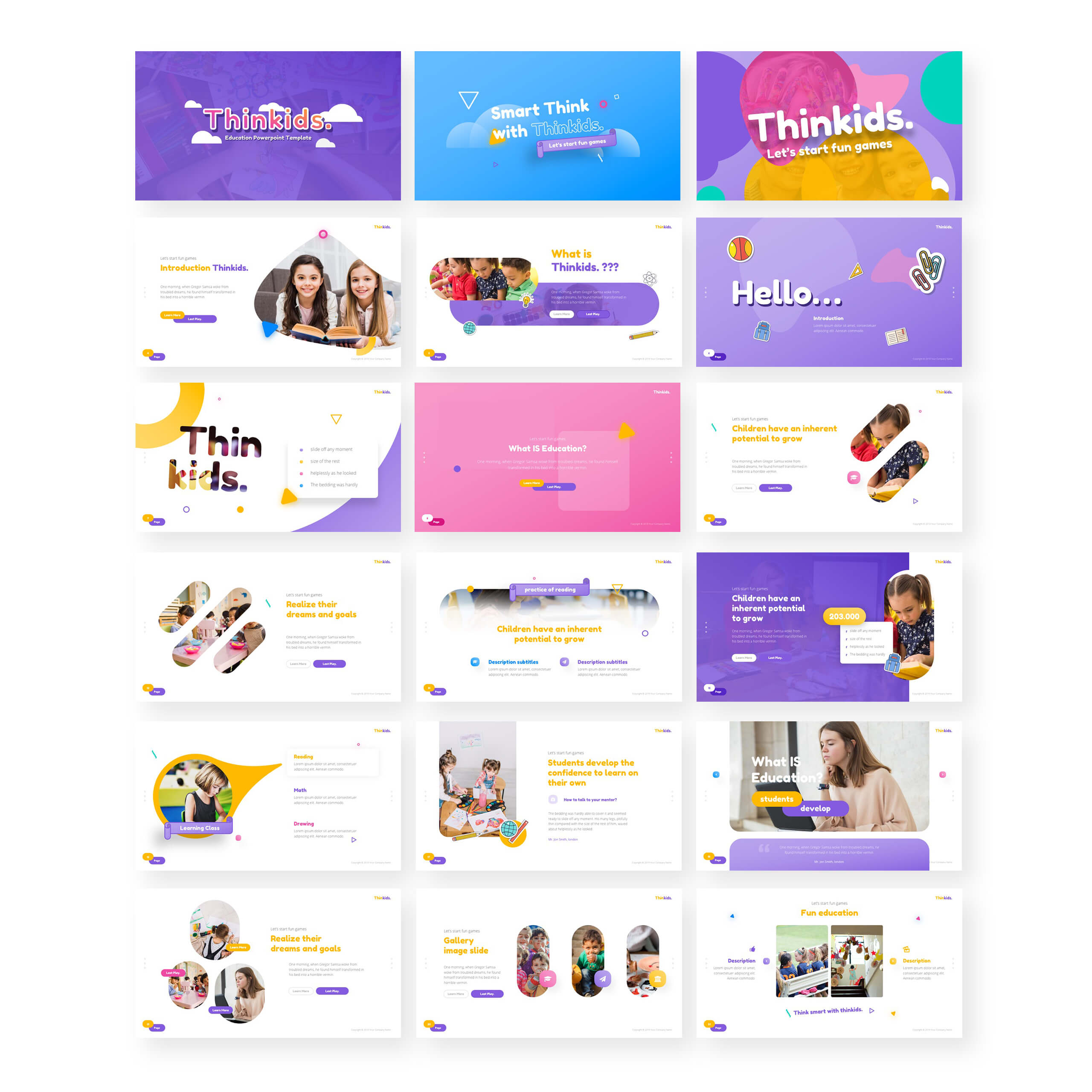Thinkids – Fun Games & Education Powerpoint Template Inside Powerpoint Template Games For Education
