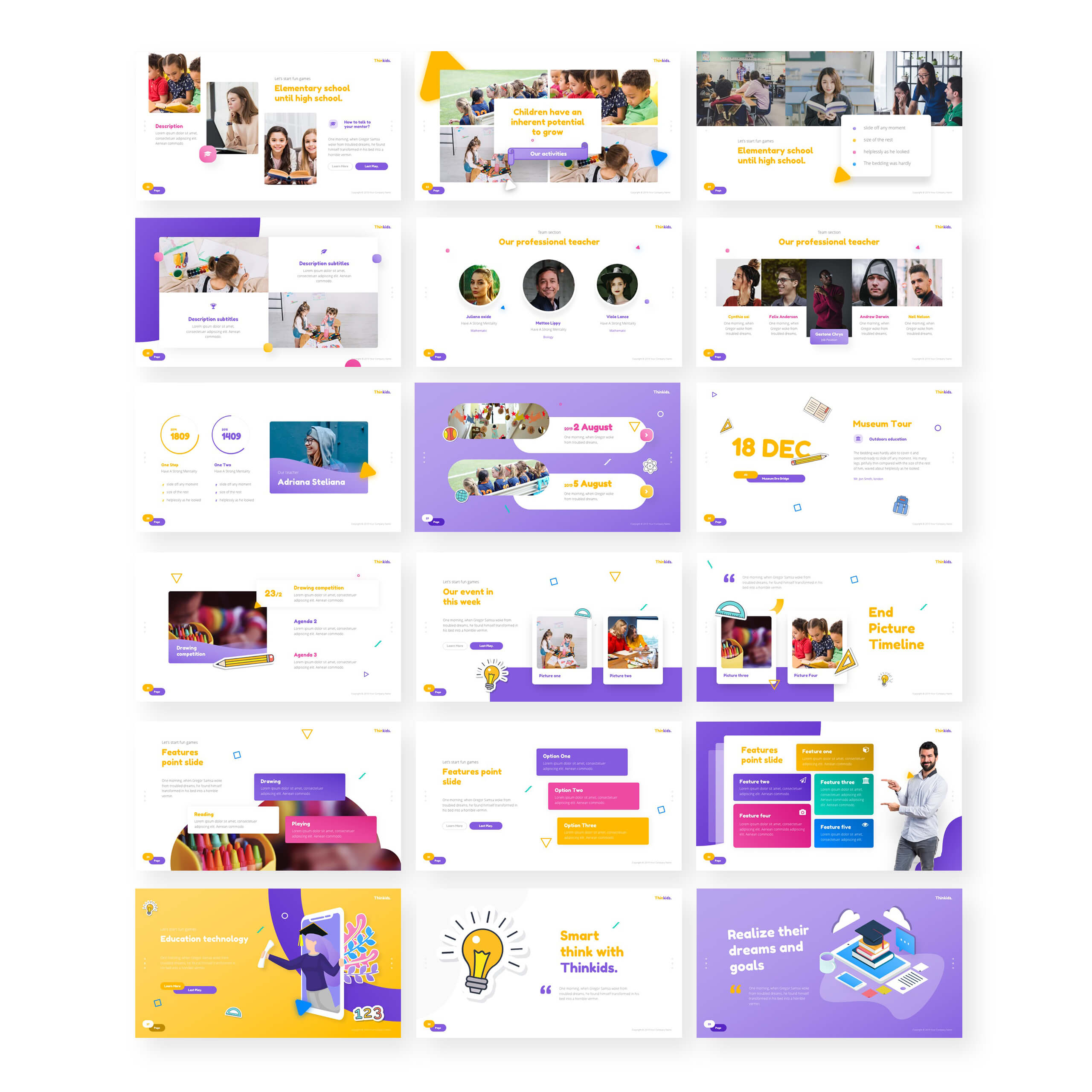 Thinkids – Fun Games & Education Powerpoint Template Within Powerpoint Template Games For Education