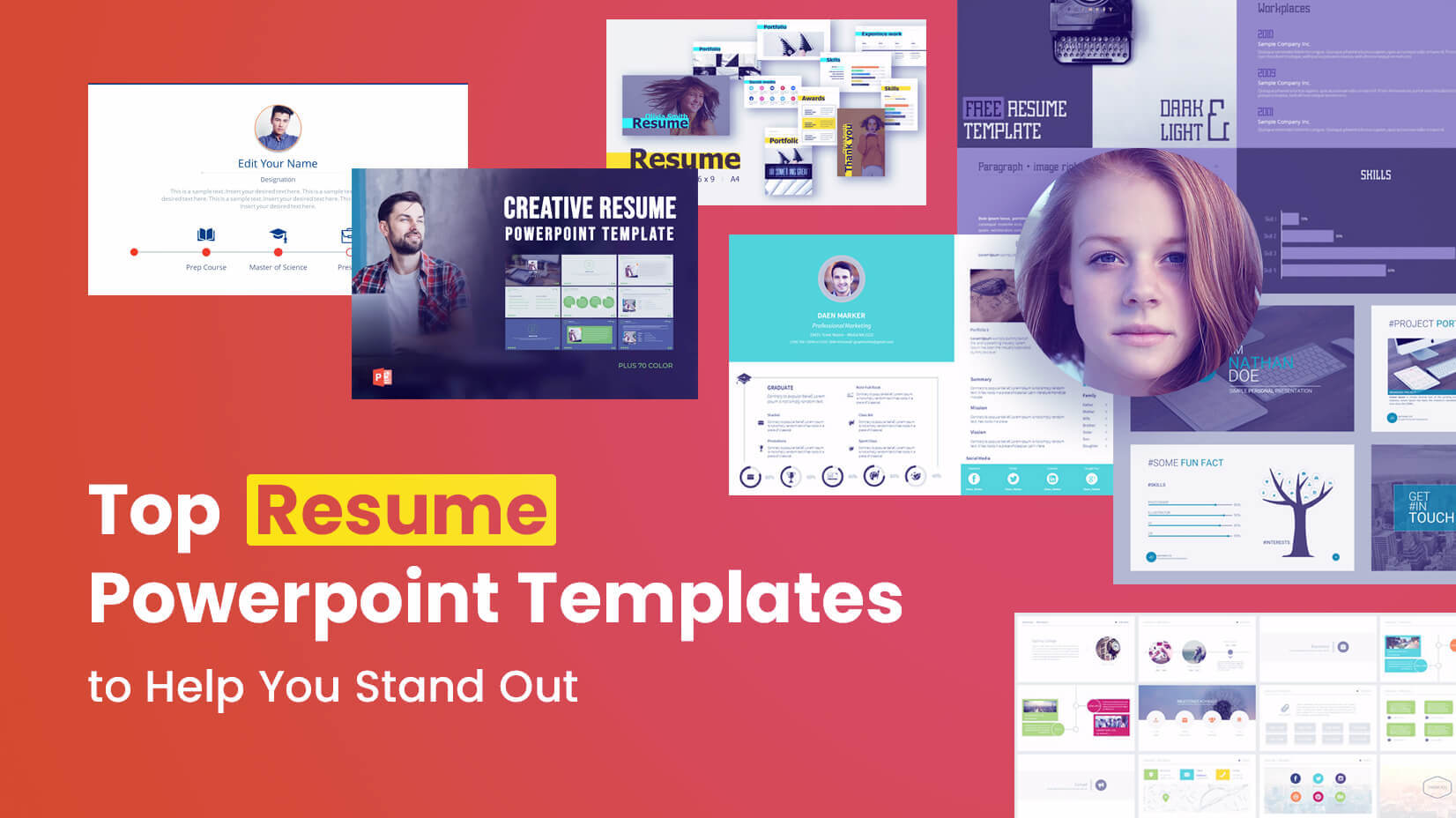Top Resume Powerpoint Templates To Help You Stand Out In Biography Powerpoint Template