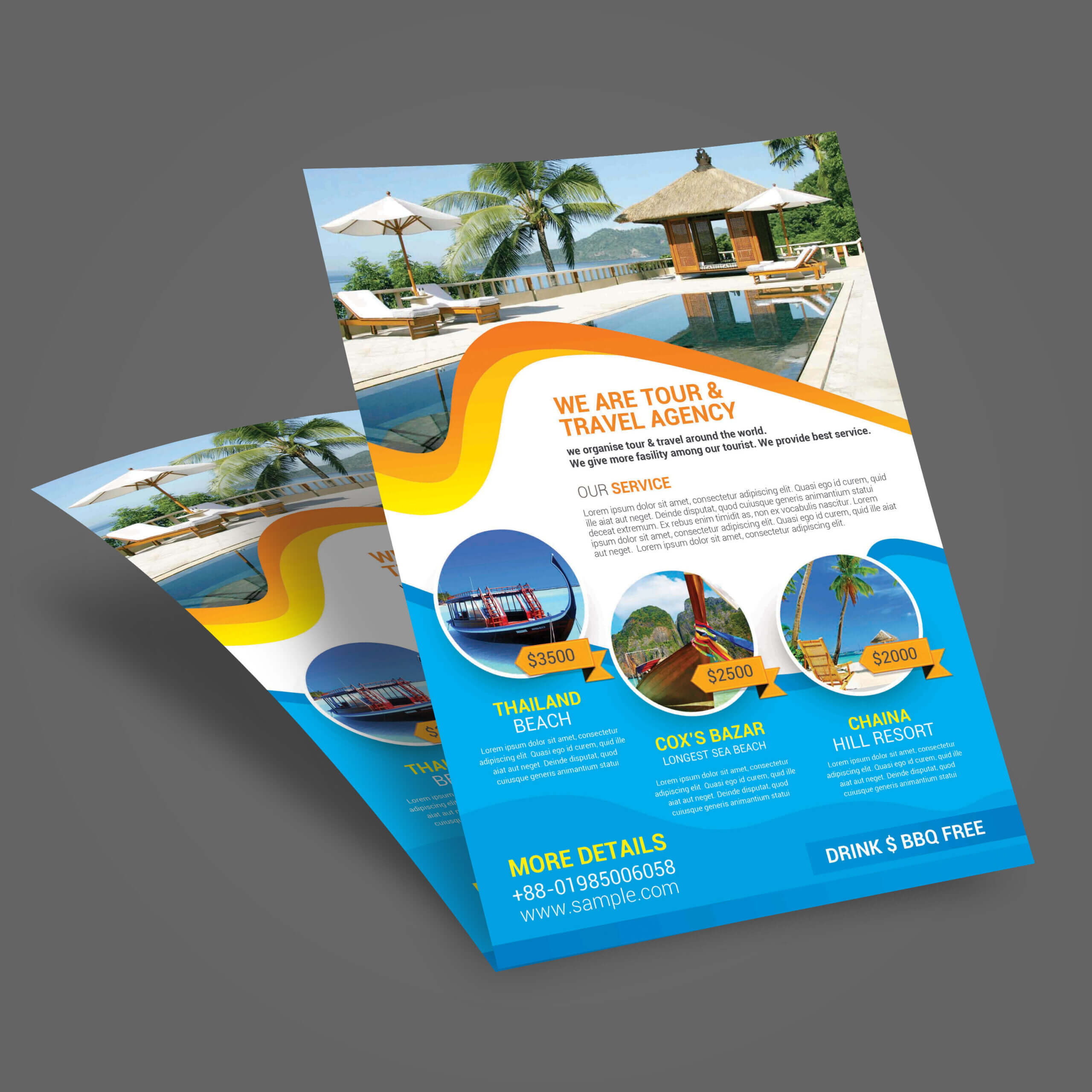 Tour Brochure Template - Calep.midnightpig.co For Travel And Tourism Brochure Templates Free