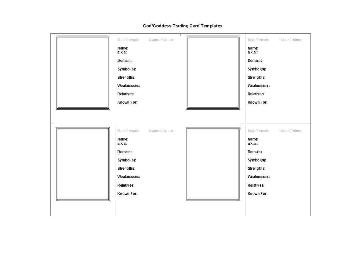 Trading Cards Templates Free Download - Dalep.midnightpig.co Intended For Trading Cards Templates Free Download