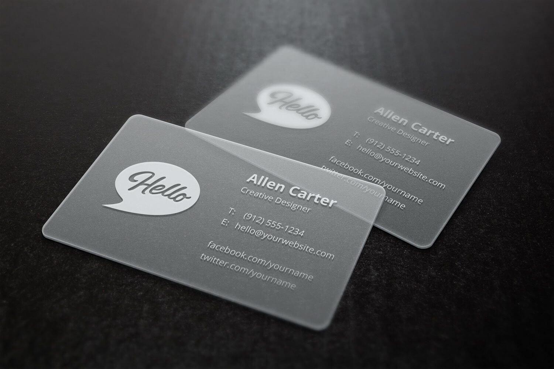 Translucent Business Cards Mockup - Best Free Mockups Throughout Transparent Business Cards Template