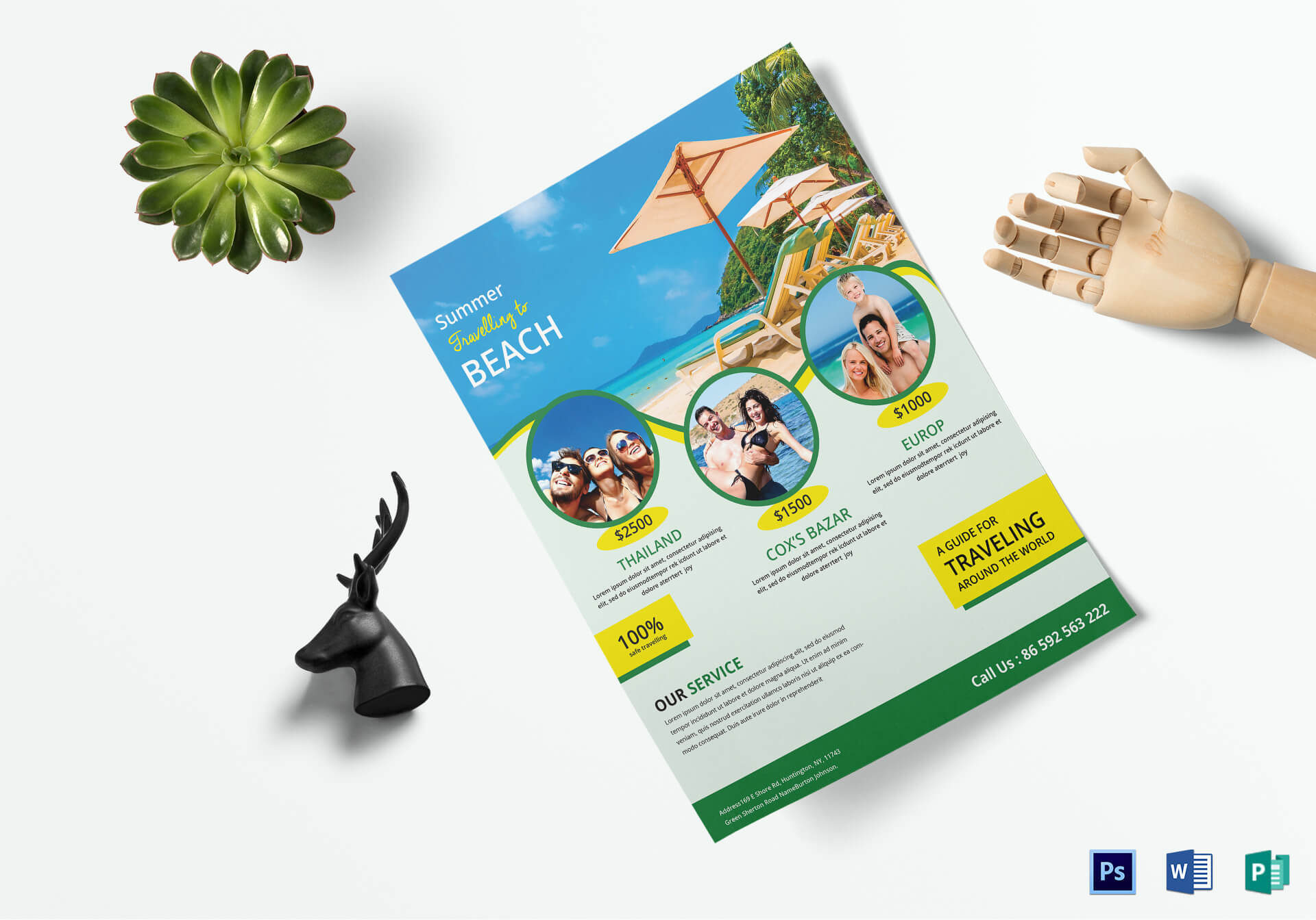 Travel Brochure Design - Tourism Company And Tourism In Word Travel Brochure Template
