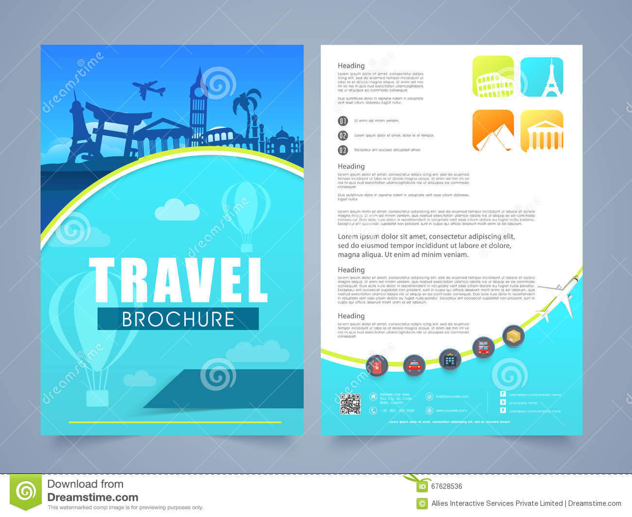Travel Leaflet Template – Calep.midnightpig.co Pertaining To Island Brochure Template