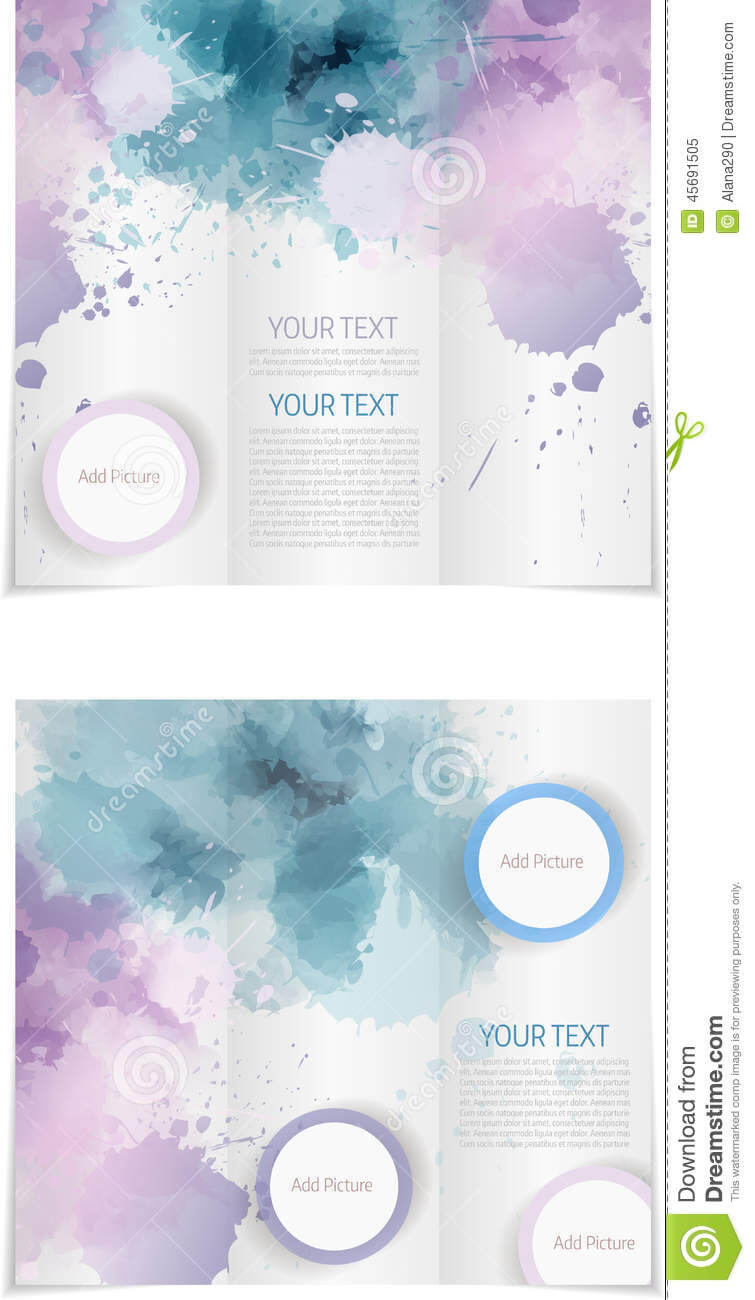 Tri Fold Brochure Template Stock Vector. Illustration Of With Regard To Tri Fold Brochure Publisher Template