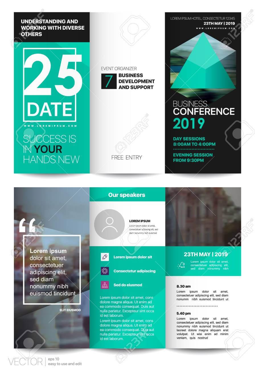 Tri Fold Business Brochure. Creative Corporate Business Template.. For Free Tri Fold Business Brochure Templates