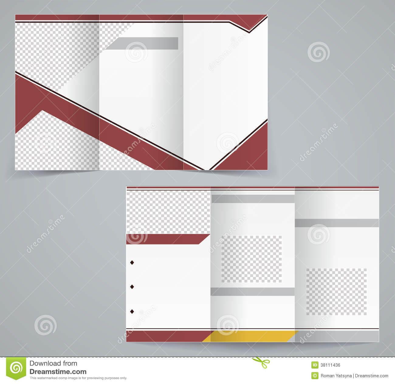Tri Fold Business Brochure Template Stock Vector Throughout Free Tri Fold Business Brochure Templates