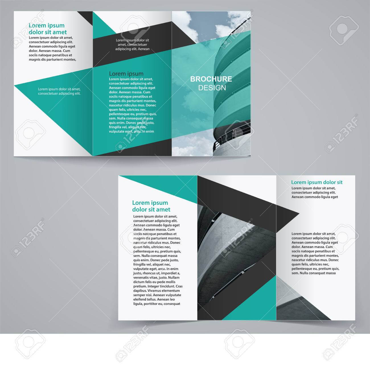 Tri Fold Business Brochure Template, Two Sided Template Design.. With Free Tri Fold Business Brochure Templates