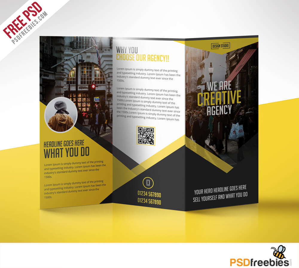 Tri Fold Menu Templates Free - Calep.midnightpig.co Pertaining To 3 Fold Brochure Template Psd Free Download