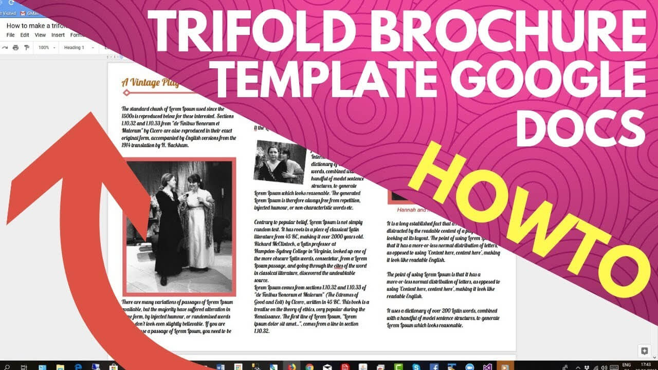 Trifold Brochure Template Google Docs With Tri Fold Brochure Template Google Docs