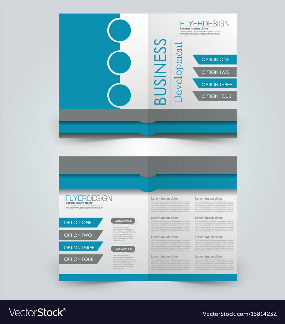 Two Page Fold Brochure Template Design Intended For One Page Brochure Template